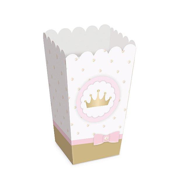 Caixa Pipoca Festa Reinado da Princesa - 10 unidades - Cromus - Rizzo Festas