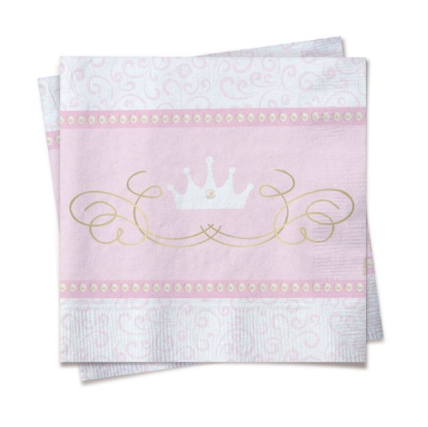 Guardanapo Festa Reinado da Princesa - 33cm - 20 unidades - Cromus - Rizzo Festas