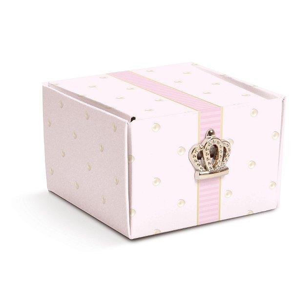 Caixa Bem Nascido com Aplique Coroa Festa Reinado da Princesa 8 unidades - Cromus - Rizzo Festas