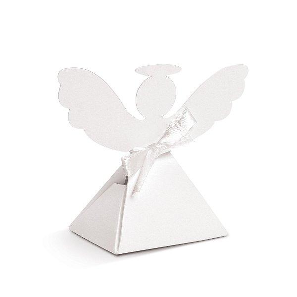 Caixa Anjinho Branco Festa Batizado - 8 unidades - Cromus - Rizzo Festas