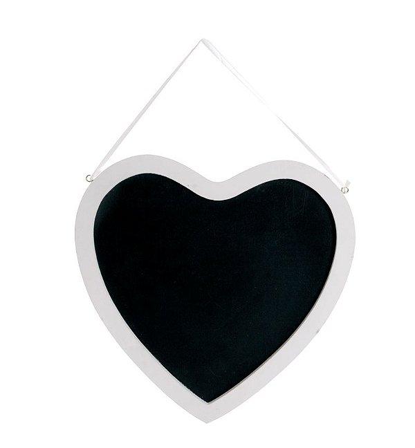 Lousa para Personalizar Coração 30x30cm - 01 unidade - Cromus - Rizzo Festas
