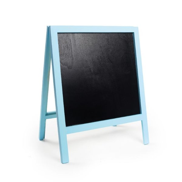 Lousa para Personalizar Cavalete com Pé Azul Claro P - 01 unidade - Cromus - Rizzo Festas