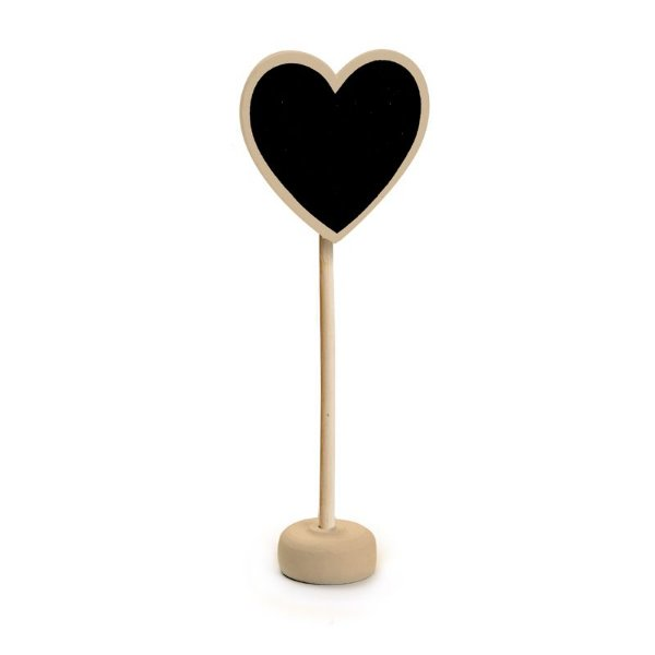 Lousa para Personalizar Coração com Apoio Natural - 01 unidade - Cromus - Rizzo Festas