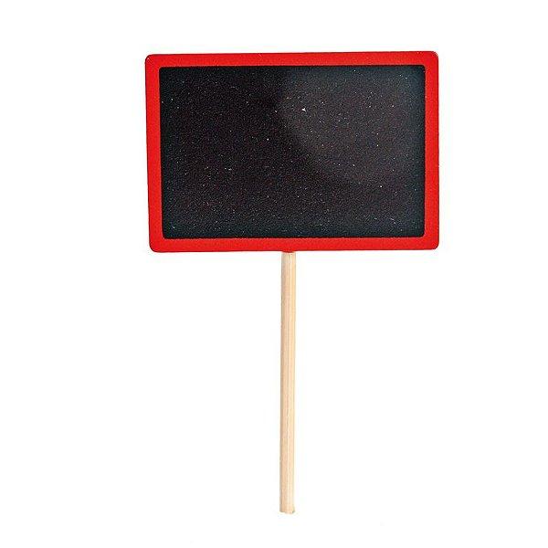 Lousa para Personalizar Pick Vermelho - 04 unidades - Cromus - Rizzo Festas