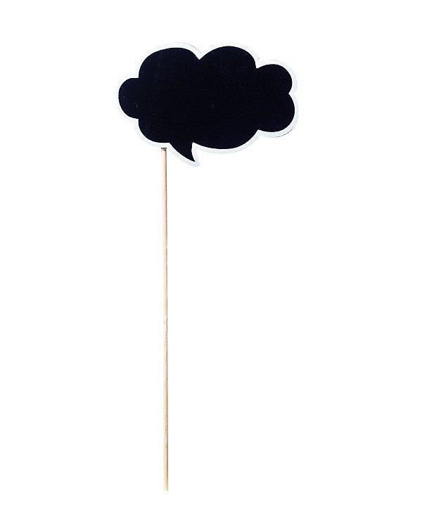 Lousa para Personalizar Pick Balão de Pensamento - 04 unidades - Cromus - Rizzo Festas