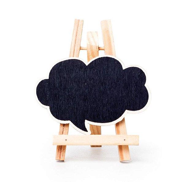 Lousa para Personalizar Mini Cavalete Balão de Pensamento Natural - 03 unidades - Cromus - Rizzo Festas