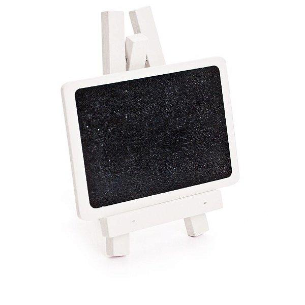 Lousa para Personalizar Mini Cavalete Retangular Branco - 03 unidades - Cromus - Rizzo Festas