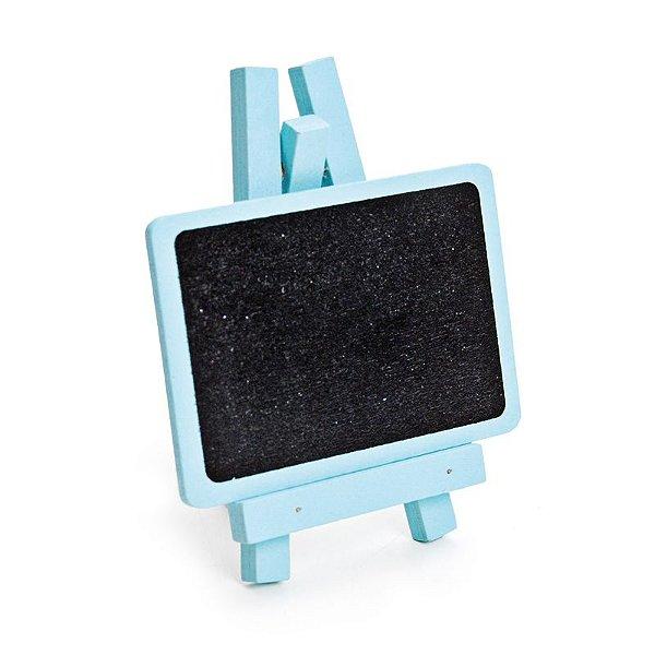 Lousa para Personalizar Mini Cavalete Retangular Azul - 03 unidades - Cromus - Rizzo Festas