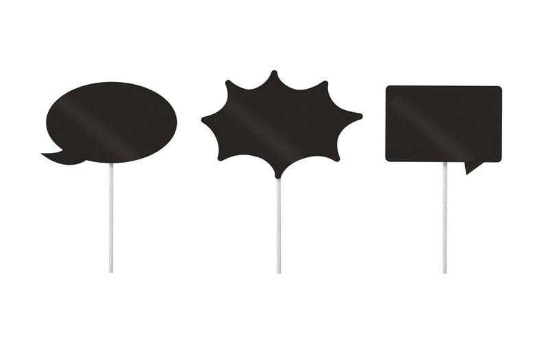 Lousa para Personalizar Plaquinhas Divertidas  - 08 unidades - Cromus - Rizzo Festas