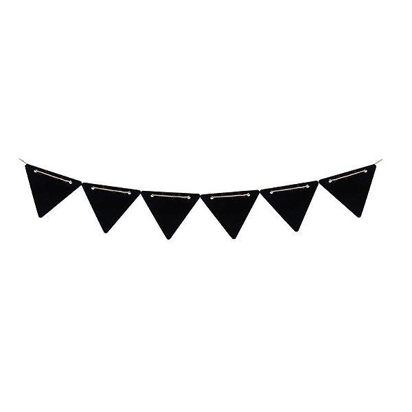 Lousa para Personalizar Faixa de Madeira Triangular M - 01 unidade - Cromus - Rizzo Festas