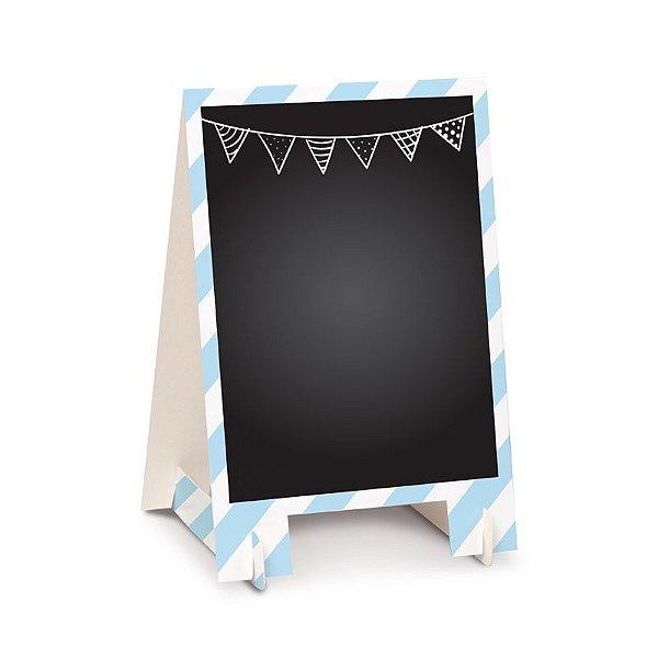 Lousa para Personalizar Cavalete de Papel Azul P - 02 unidades - Cromus - Rizzo Festas