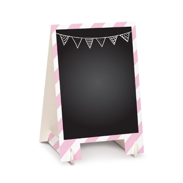 Lousa para Personalizar Cavalete de Papel Rosa G - 02 unidades - Cromus - Rizzo Festas