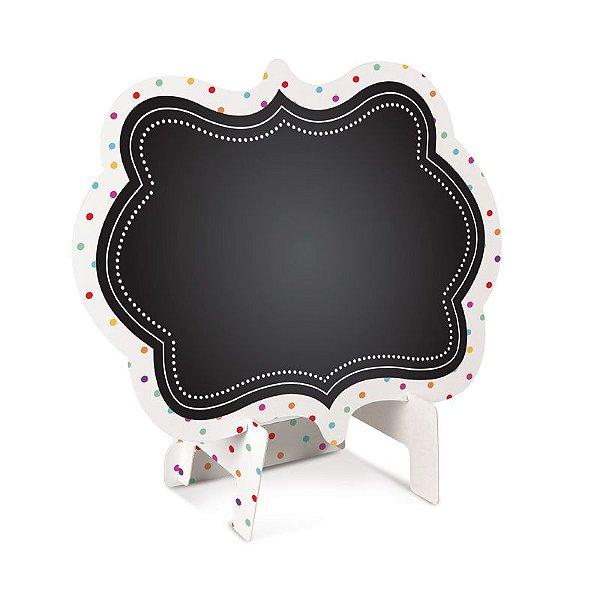 Lousa para Personalizar Cavalete de Papel Colorê P - 02 unidades - Cromus - Rizzo Festas