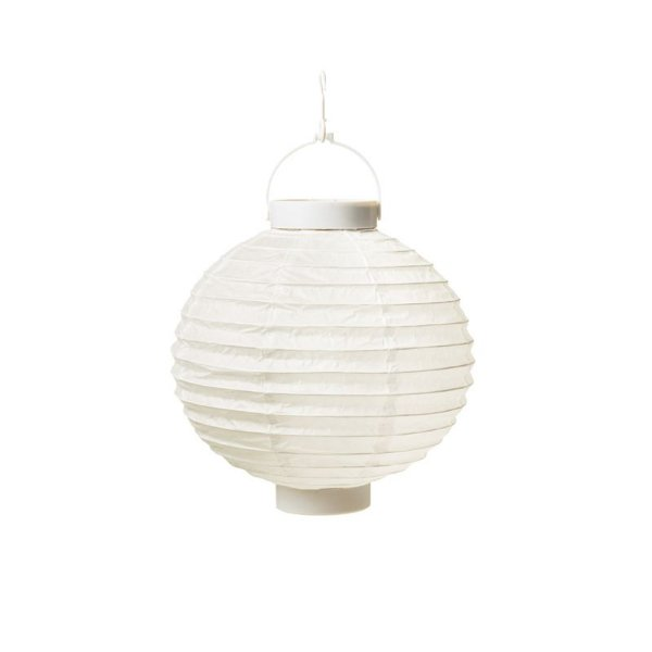 Lanterna de Papel Luminosa com Apoio Branca 20cm - 01 unidade - Cromus - Rizzo Festas