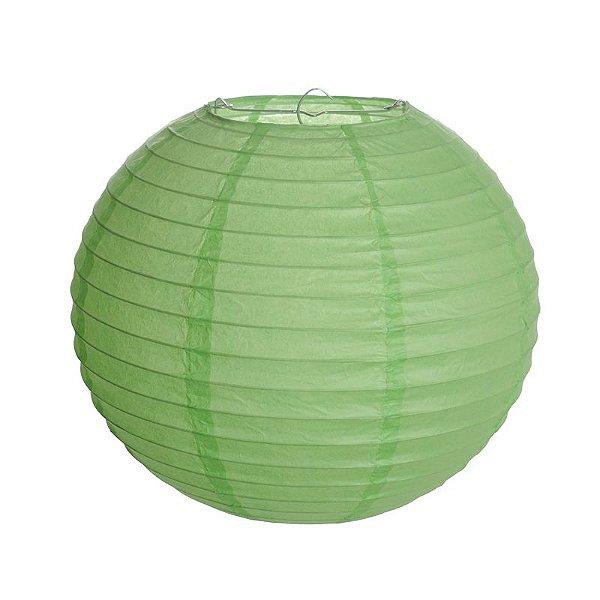 Lanterna de Papel Luminosa Verde 20cm - 01 unidade - Cromus - Rizzo Festas