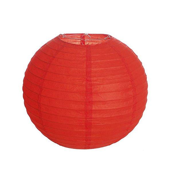 Lanterna de Papel Vermelho 20cm - 01 unidade - Cromus - Rizzo Festas