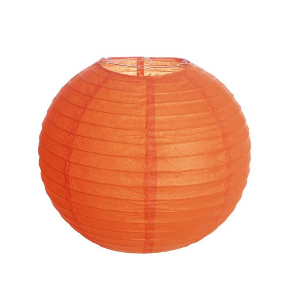 Lanterna de Papel Laranja 25cm - 01 unidade - Cromus - Rizzo Festas