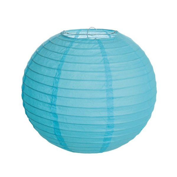 Lanterna de Papel Azul 25cm - 01 unidade - Cromus - Rizzo Festas