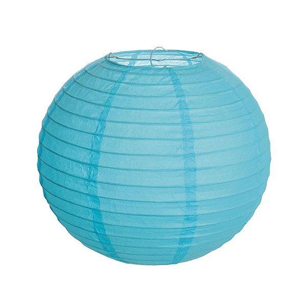 Lanterna de Papel Azul 30cm - 01 unidade - Cromus - Rizzo Festas