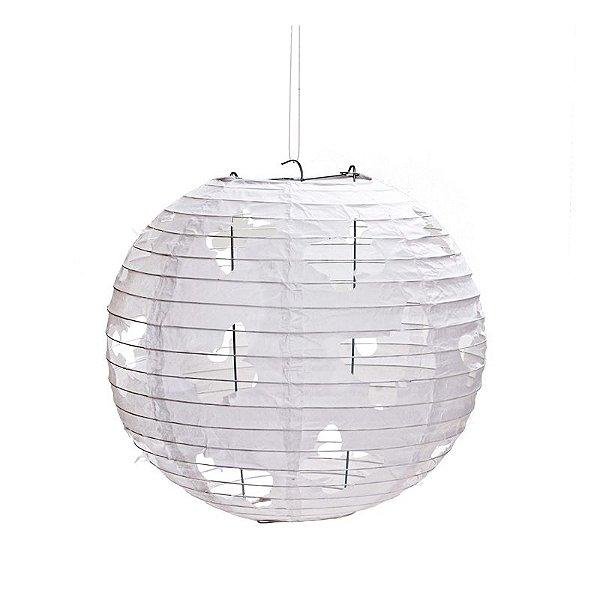 Lanterna de Papel Borboleta Branca 30cm - 01 unidade - Cromus - Rizzo Festas