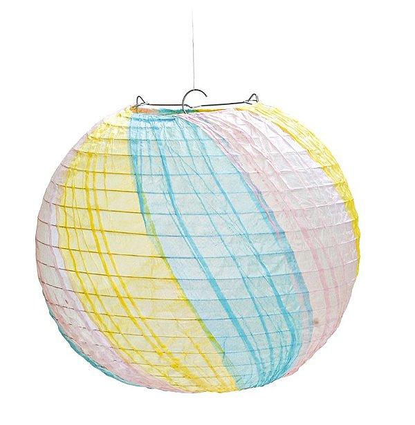 Lanterna de Papel Marshmallow 35cm - 01 unidade - Cromus - Rizzo Festas
