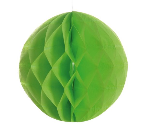 Globo de Papel Colméia Verde 08cm - 03 unidades - Cromus - Rizzo Festas
