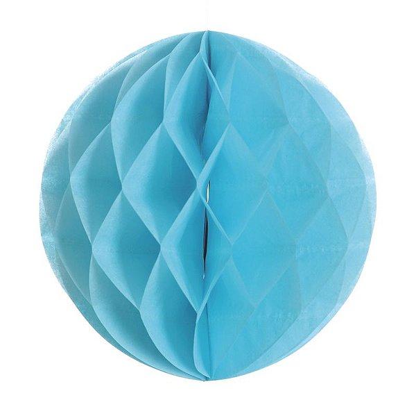 Globo de Papel Colméia Azul 30cm - 01 unidade - Cromus - Rizzo Festas