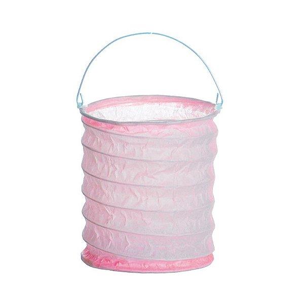 Lanterna de Papel para Vela Eletrônica Rosa 10x15cm - 01 unidade - Cromus - Rizzo Festas