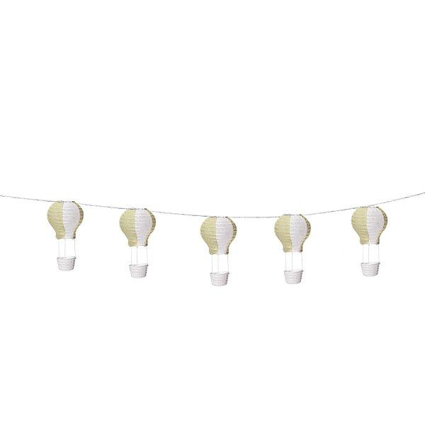 Varalzinho de Balões Luminosos Nude e Branco - 01 unidade - Cromus - Rizzo Festas