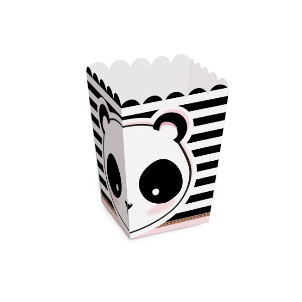 Caixa Pipoca Festa Panda - 10 unidades - Cromus - Rizzo Festas