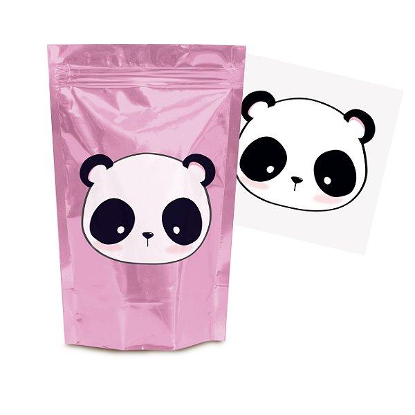 Kit Lembrancinha Saquinho Zip com Transfer p Lembrancinha Festa Panda - 8 unidades - Cromus - Rizzo Festas
