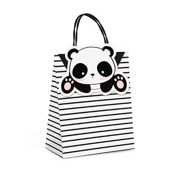Sacola de Papel p Lembrancinha Festa Panda - 10 unidades - Cromus - Rizzo Festas