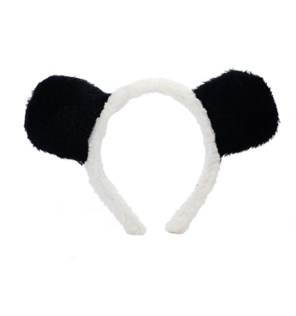 Tiara de Tecido Orelhinhas Festa Panda - Cromus - Rizzo Festas