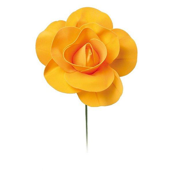 Flor Decorativa Laranja 15cm - 01 unidade - Cromus - Rizzo Festas