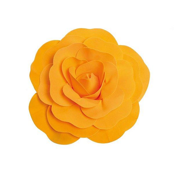 Flor Decorativa Laranja 30cm - 01 unidade - Cromus - Rizzo Festas