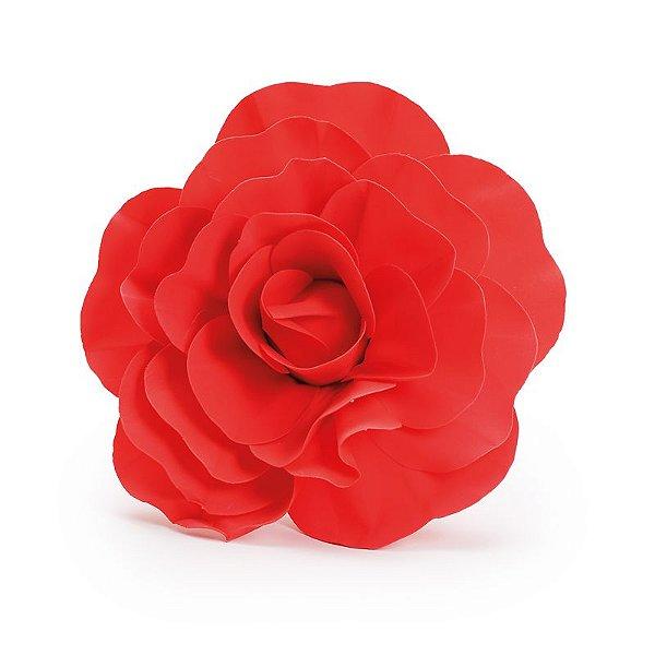 Flor Decorativa Vermelho 30cm - 01 unidade - Cromus - Rizzo Festas