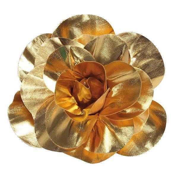 Flor Decorativa Ouro 30cm - 01 unidade - Cromus - Rizzo Festas