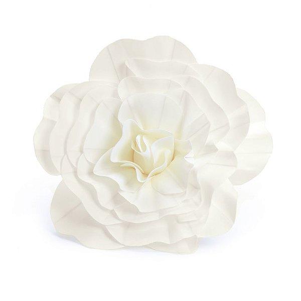 Flor Decorativa Branca 40cm - 01 unidade - Cromus - Rizzo Festas