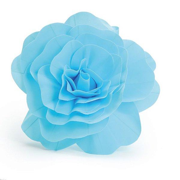 Flor Decorativa Azul 40cm - 01 unidade - Cromus - Rizzo Festas