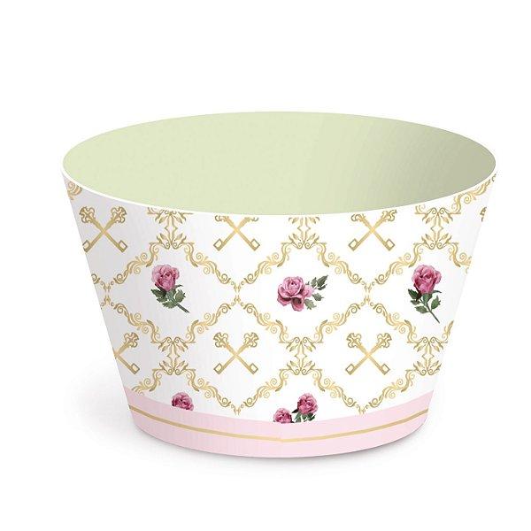 Forminha Wrap p Cupcake Festa Jardim Secreto - Coroa - 12 unidades - Cromus - Rizzo Festas
