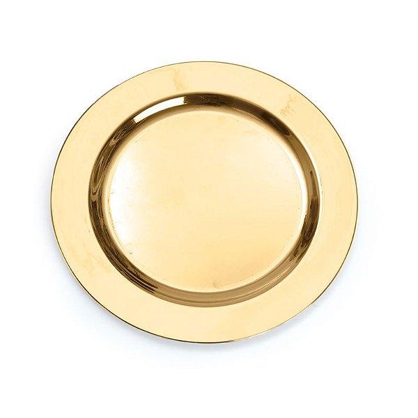Prato P Ouro 19cm - 06 unidades - Descartáveis de Luxo - Cromus - Rizzo Festas