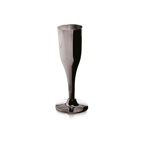 Taça de Champagne Prata G 156ml - 06 unidades - Descartáveis de Luxo - Cromus - Rizzo Festas