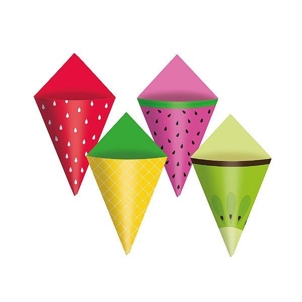Mini Cone Festa Quitandinha - 24 unidades - Cromus - Rizzo Festas