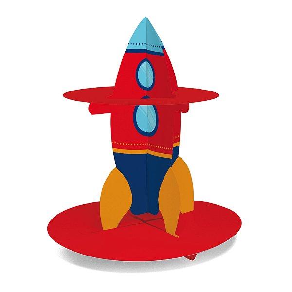 Kit Suporte para Doces Foguete Festa Astronauta - Cromus - Rizzo Festas