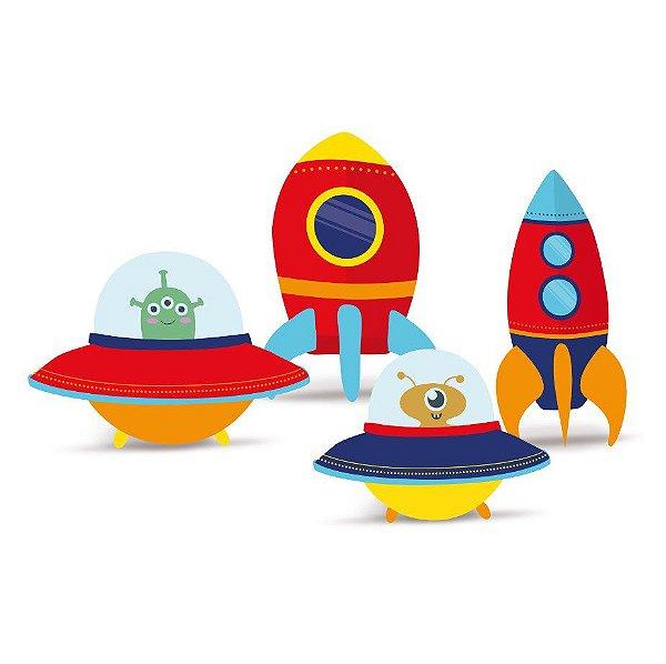Decoração de Mesa Festa Astronauta - 4 unidades - Cromus - Rizzo Festas
