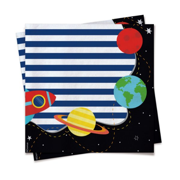 Guardanapo Festa Astronauta - 20 unidades - Cromus - Rizzo Festas