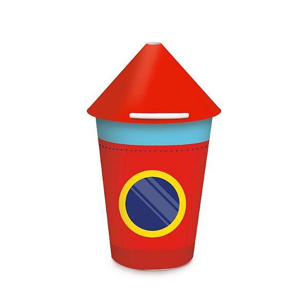 Copo de Papel Festa Astronauta Foguete 240Ml - 8 unidades - Cromus - Rizzo Festas