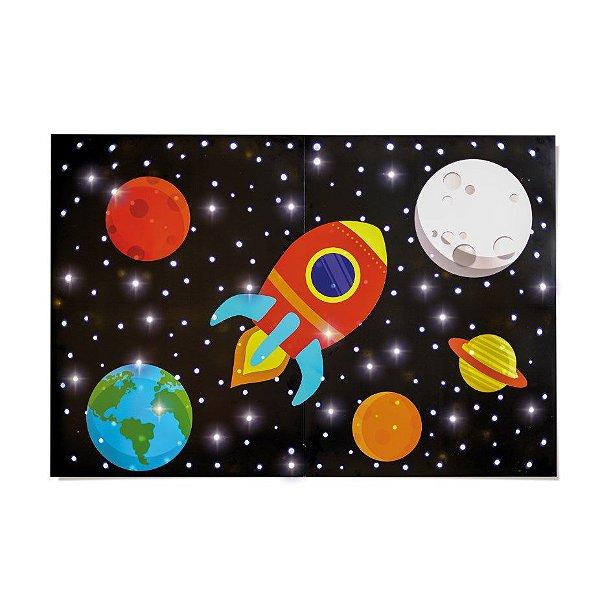 Painel Decorativo Festa Astronauta com LED 127v - Cromus - Rizzo Festas