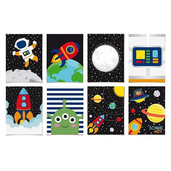 Kit Cartaz Decorativo Festa Astronauta - 8 unidades - Cromus - Rizzo Festas
