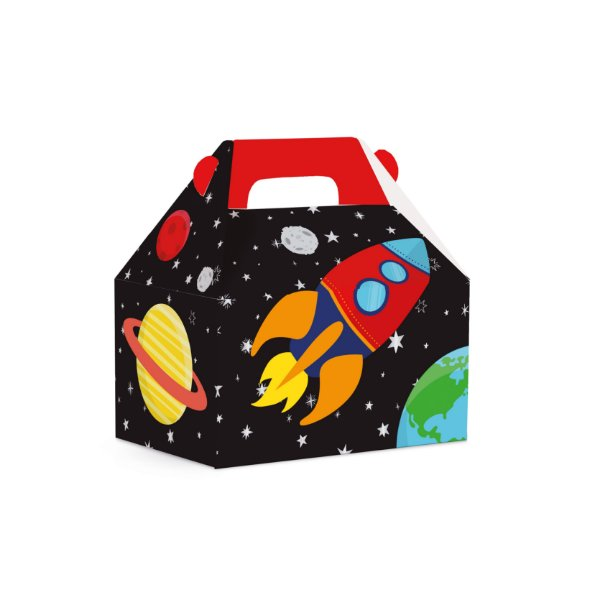 Caixa Maleta Kids Festa Astronauta - 10 unidades - Cromus - Rizzo Festas